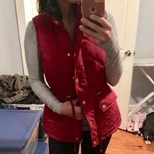Red Vest with faux fur lining